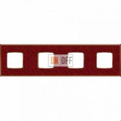 Рамка Vintage Corinto 4 поста (Pompei red - блестящее золото) FD01334PROB