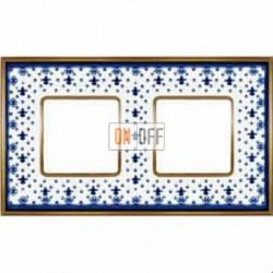 Рамка Vintage Porcelain 2 поста (Blue Lys - блестящее золото) FD01342AZOB
