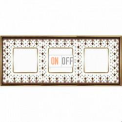Рамка Vintage Porcelain 3 поста (Brown Lys - блестящее золото) FD01343MAOB