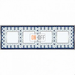 Рамка Vintage Porcelain 4 поста (Blue Lys - блестящий хром) FD01344AZCB