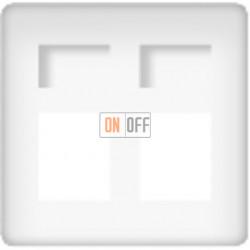 Розетка телефонная двойная (белый) FD17897 - FD-T5-B - FD-T5-B - FD16-BAST