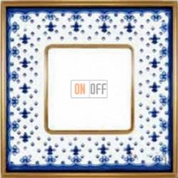 Рамка Vintage Porcelain 1 пост (Blue Lys - блестящее золото) FD01341AZOB