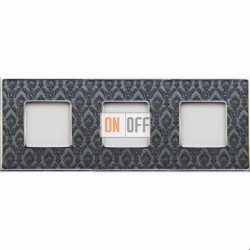 Рамка Vintage Tapestry 3 поста (Decornoir - блестящий хром) FD01323DNCB