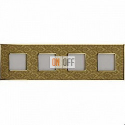 Рамка Vintage Tapestry 4 поста (Decorgold - блестящее золото) FD01324DGOB