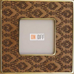 Рамка Vintage Tapestry 1 пост (Decorbrass - блестящее золото) FD01321DBOB