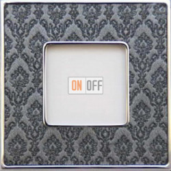 Рамка Vintage Tapestry 1 пост (Decornoir - блестящий хром) FD01321DNCB