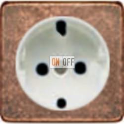 Розетка 2к+3 с винтовым подключением 10-16А 250 V~ (медь/белый) FD16523 - FD04314RU - FD16-BAST