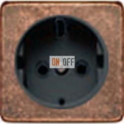 Розетка 2к+3 с винтовым подключением 10-16А 250 V~ (медб/черный) FD16523 - FD04314RU-M - FD16-BAST