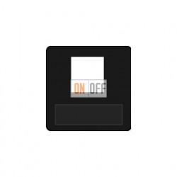 Аудиорозетка одинарная (черный) FD17896-M - FD-310ST - FD16-BAST