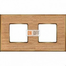 Рамка Vintage Wood 2 поста (дуб - блестящее золото) FD01312OOB