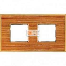 Рамка Vintage Wood 2 поста (вишня - блестящее золото) FD01312COB
