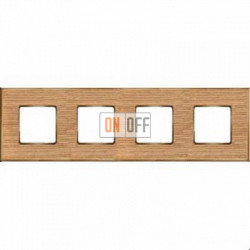 Рамка Vintage Wood 4 поста (дуб - блестящее золото) FD01314OOB