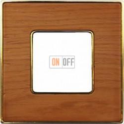 Рамка Vintage Wood 1 пост (вишня - блестящее золото) FD01311COB