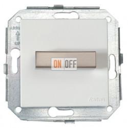 Выключатель 1 клавишный поворотный перекрёстный, белый/сталь 37304252