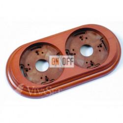 Рамка накладная двухместная Fontini Garby, буковая (мёд) 30802192