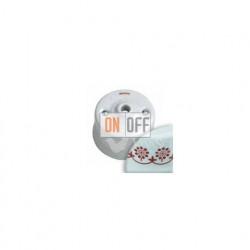 Кабельный вывод Fontini Garby, белый фарфор/коричневый декор 30927132