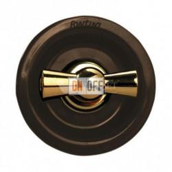 Переключатель поворотный с 2-х мест 10А 250В~, коричневый с золотом 35308542