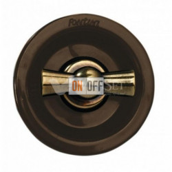 Переключатель поворотный с 2-х мест 10А 250В~, коричневый с бронзой 35308572