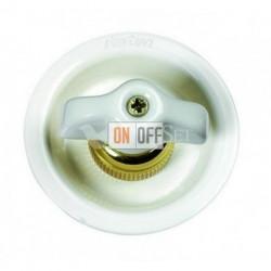 Выключатель 2 клавишный поворотный с 2-х мест, 10А 250В~, ретро белый фарфор 35302232
