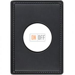Рамка одноместная с круглым вырезом Venezia Metal, цвет - антрацит 39801492