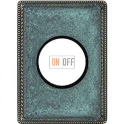 Рамка одноместная с круглым вырезом Venezia Metal, цвет патина 39801622