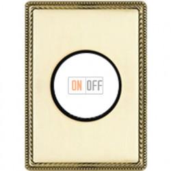 Рамка одноместная с круглым вырезом Venezia Metal, цвет - золото 39801502
