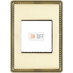 Рамка одноместная с квадратным вырезом Venezia Metal, цвет - золото 39821502