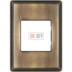 Рамка одноместная с квадратным вырезом Venezia Metal, цвет - бронза 39821532