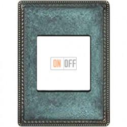 Рамка одноместная с квадратным вырезом Venezia Metal, цвет патина 39821622