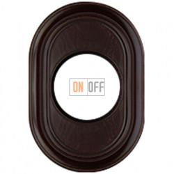 Рамка одноместная Venezia Oval, цвет - орех Fontini 35801202