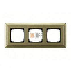 Рамка тройная, для гориз./вертик. монтажа Gira Classix, бронза 0213621