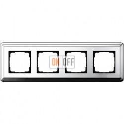 Рамка на 4 поста, вертикальная/горизонтальная, Gira Classix, хром 0214641