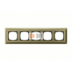 Рамка пятерная, для гориз./вертик. монтажа Gira Classix, бронза 0215621