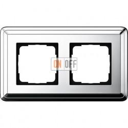 Рамка на 2 поста, вертикальная/горизонтальная, Gira Classix, хром 0212641