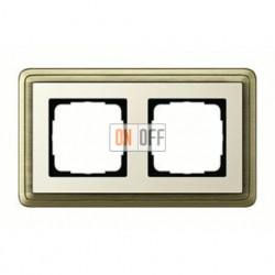 Рамка двойная, для гориз./вертик. монтажа Gira Classix, бронза-кремовый 0212623