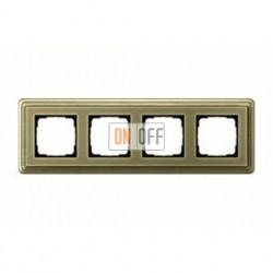 Рамка четверная, для гориз./вертик. монтажа Gira Classix, бронза 0214621