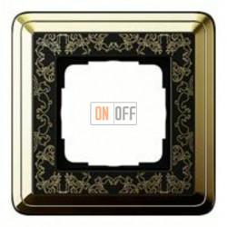 Рамка одинарная Gira Classix Art, латунь-черный 0211672