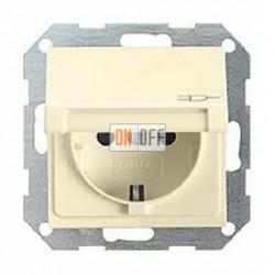 Розетка с заземляющими контактами 16 А / 250 В~, с откидной крышкой и уплотнительной мембраной IP44 045401 - 025227