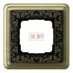 Рамка одинарная Gira Classix Art, бронза-черный 0211662
