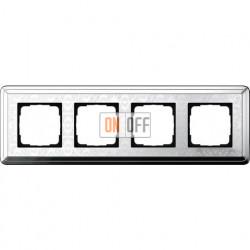 Рамка на 4 поста, вертикальная/горизонтальная, Gira Classix Art, хром 0214681
