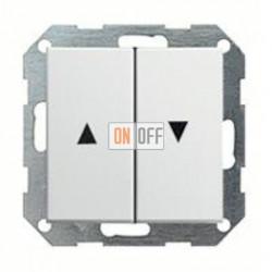 Выключатель управления жалюзи кнопочный, 10 А / 250 В~ 015800 - 029427