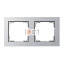 Рамка двойная, для гориз./вертик. монтажа Gira E2, алюминий 021225