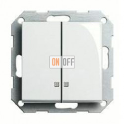 Выключатель двухклавишный с подсветкой, 10 А / 250 В~ 014500 - 063103
