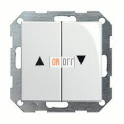 Выключатель управления жалюзи клавишный, 10 А / 250 В~ 015900 - 029403
