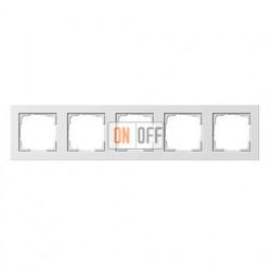 Рамка пятерная, для гориз./вертик. монтажа Gira E2, белый матовый 021522