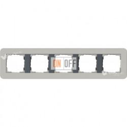Рамка пятерная  Gira E3  серый/антрацит 0215422