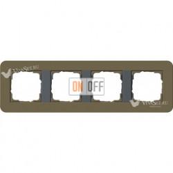 Рамка четверная  Gira E3  дымчатый/антрацит 0214426