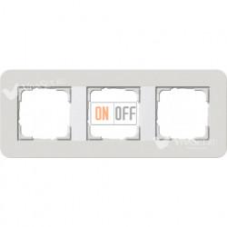 Рамка тройная  Gira E3 светло-серый/белый глянцевый 0213411