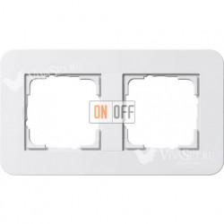 Рамка двойная  Gira E3 белый глянцевый 0212410