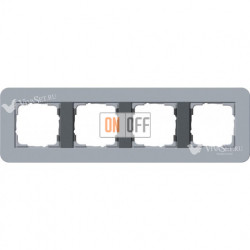 Рамка четверная  Gira E3  серо-голубой/антрацит 0214424